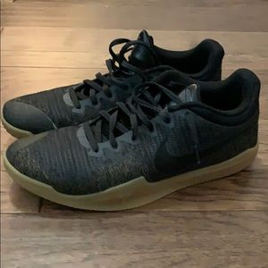 Kobe mamba rage black and gum sole size 14